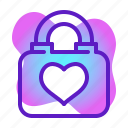 heart, lock, love, marriage, romance, wedding icon