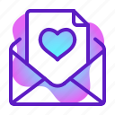mail, marriage, party, romance, valentine, wedding icon