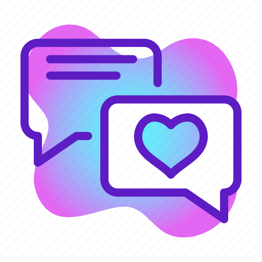 chat, heart, love, message, romance, valentine, wedding icon