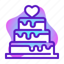 cake, love, marriage, romance, valentine, wedding icon