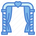 arch, love, marriage, romance, wedding icon
