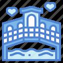 architecture, bridge, buildings, river icon