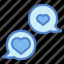bubble, chat, conversation, love, speech
