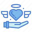 heart, like, love, peace icon