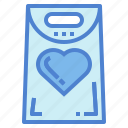 bag, heart, love, shopping, supermarket icon