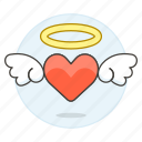 halo, love, angelic, wing, cupid, romance, flying, heart icon