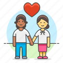 in, couple, iromance, boyfriend, girlfriend, hand, love, engagement, holding, heart