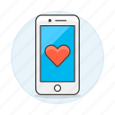 2, application, dating, heart, love, notification, online, phone, romance, smartphone icon