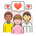 2, bubble, committed, couple, heart, in, love, people, relationship, romance, speech icon