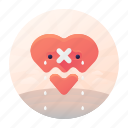 broken, dating, heart, heart broken icon