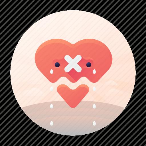 broken, dating, heart, heart broken icon