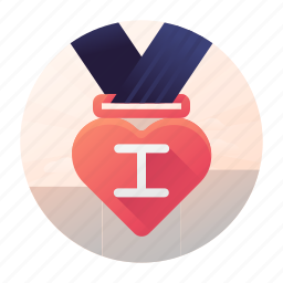 dating, first, medal, place icon