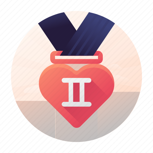 dating, medal, place, second icon