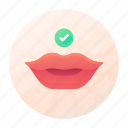 confirm, dating, kiss, mouth icon