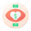 dating, finance, heart, money icon