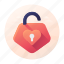 dating, heart, lock, privacy, unlock icon