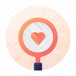 dating, heart, love, magnifier, search icon