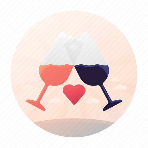 Dating, drink, glasses, toast icon - Download on Iconfinder