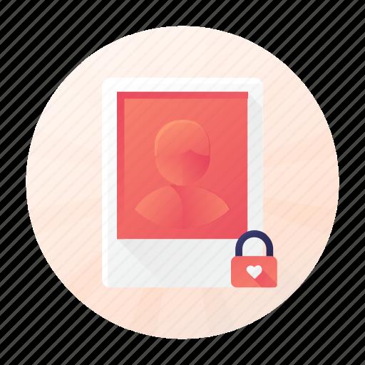 dating, image, lock, profile icon