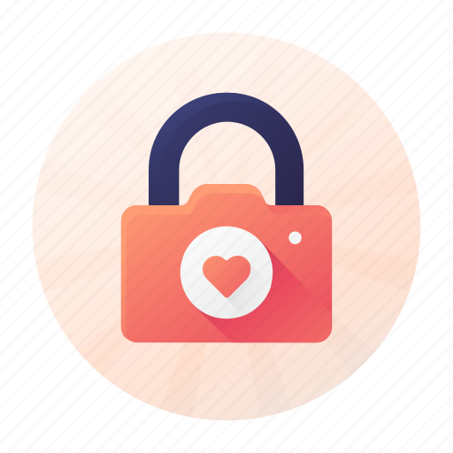 Camera, dating, lock, privacy icon - Download on Iconfinder