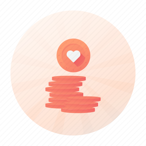 coin, dating, finance, money icon