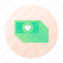 dating, dollar, finance, money icon