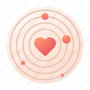 dating, orbit, radar icon