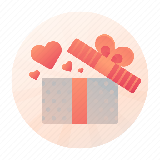 dating, gift, present, romance icon