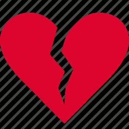 break, dumped, heart, heartbreaker, heartbroken, sad, split icon