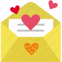 letter, love, mail, open, romance, romantic, send icon