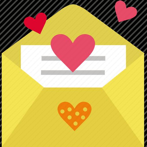 letter, love, mail, open, romance, romantic, send icon