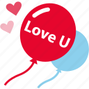 party, balloon, love, romantic icon