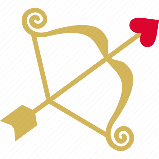 arrow, bow, cupid, love, lust, romance icon