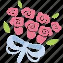 bouquet, bunch, floral, flowers, romance, roses, valentine icon