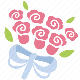 bouquet, bunch, floral, flowers, romance, roses, valentine icon