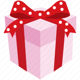 box, gift, pink, present, romantic, valentine icon