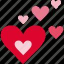 <3, cute, hearts, love, pretty, romance, romantic icon