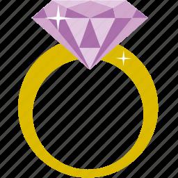 diamond, engagement, marriage, proposal, ring, wedding icon