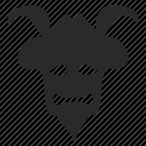 avatar, face, fear, mask, ronin, warrior icon