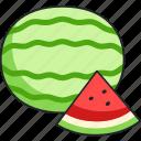 watermelon, fruit, food, melon