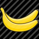 banana, tropical, bananas, fruit, food