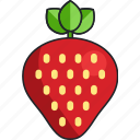 strawberry, food, fruit