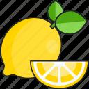 lemon, citrus, slice, food, fruit, lemons