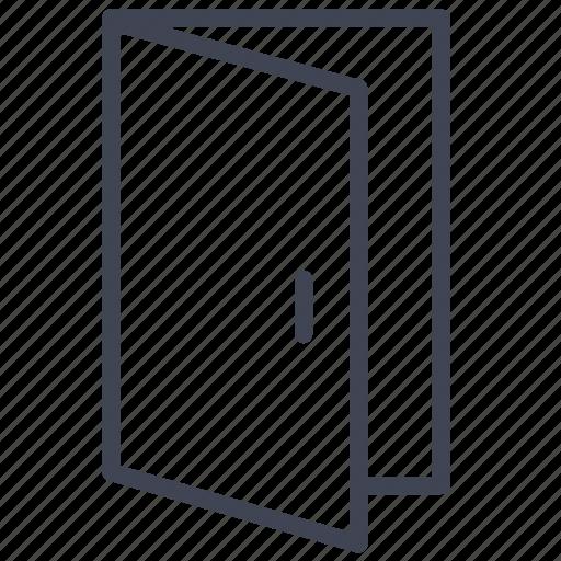 close, door, exit, facilities, open, room icon