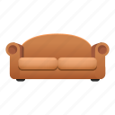 brown, couch, cozy, cushion, furniture, sofa