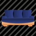 furniture, couch, comfort, pillow, sofa, interior