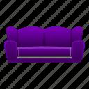 couch, furniture, home, interior, purple, sofa