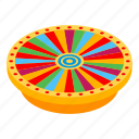 business, cartoon, isometric, lucky, money, play, wheel icon