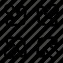 arrow, arrows, center, directional, indicator, reduce, target