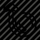 indicator, loop, directional, arrow, curve, arrows icon